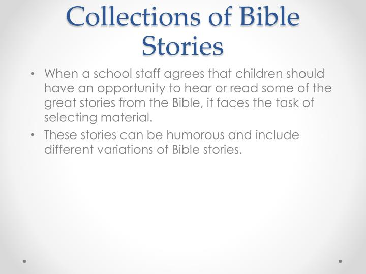 Collections of Bible Stories
