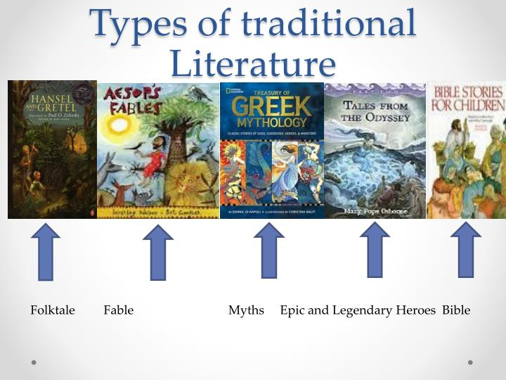 Types of traditional literature