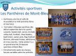 activit s sportives les panth res de mont bleu