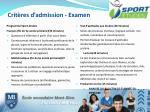 crit res d admission examen