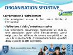 organisation sportive