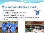 voie mesure d aide et sports