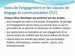 voies de l engagement et les classes de langage et communication tlc2
