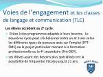 voies de l engagement et les classes de langage et communication tlc3