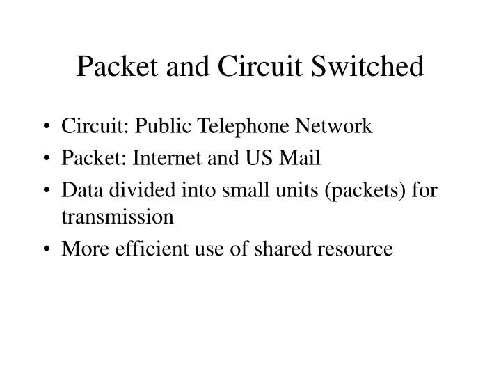 Packet and Circuit Switched