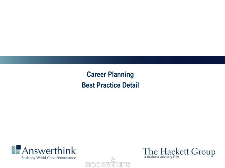 career planning best practice detail n.