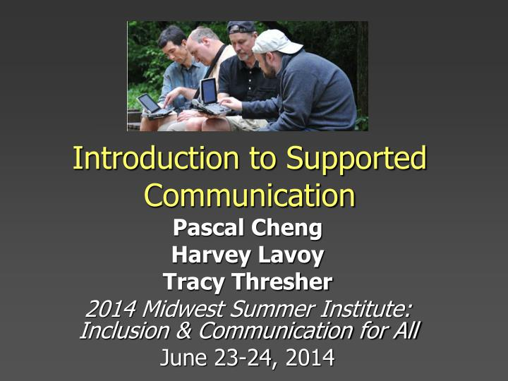 introduction to supported communication n.