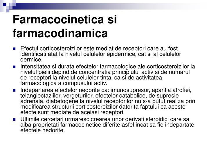 Farmacocinetica si farmacodinamica
