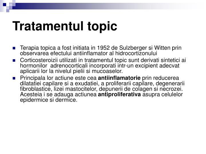 Tratamentul topic