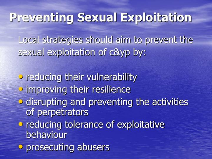 Preventing Sexual Exploitation