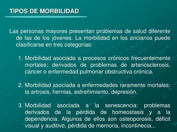 TIPOS DE MORBILIDAD