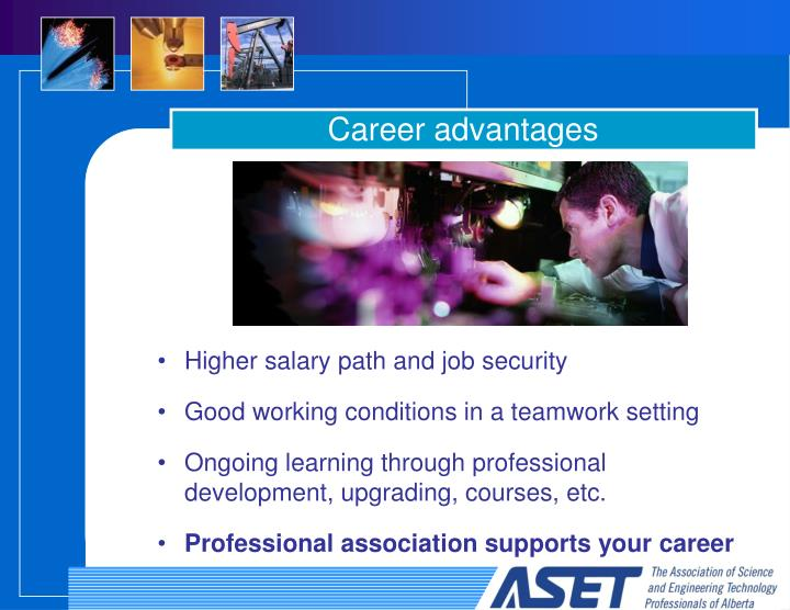 Career advantages
