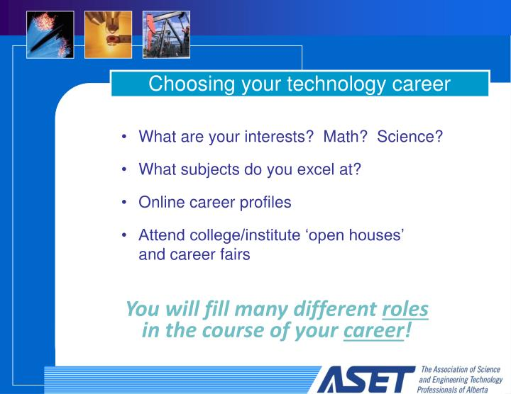 Choosing your technology career