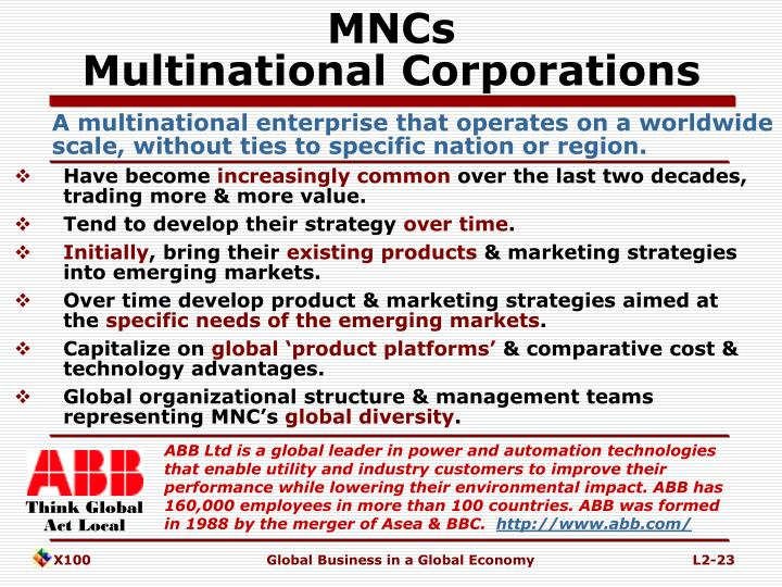 the problems that multinational corporations is causing The multinational corporations are the modles of these traits, and they play a key role in sustaining their position through their economic and political influence the role of mnc plays a significant on the economic formulation of policies and the overall development of the country.