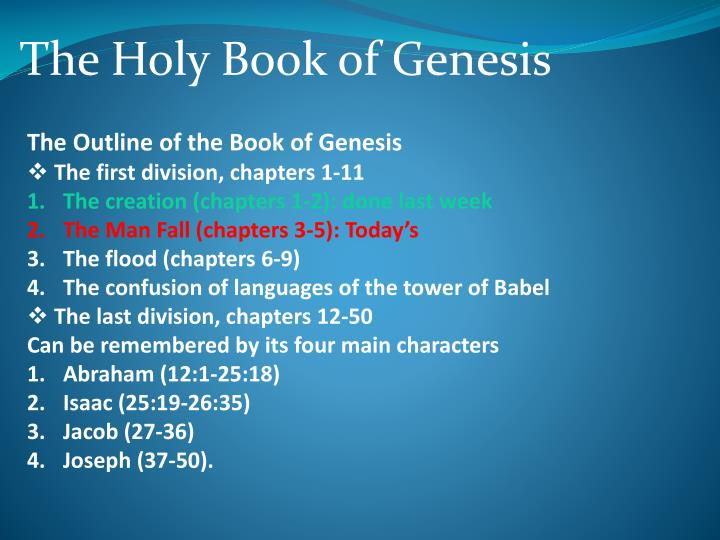 the fall of man in the book of genesis