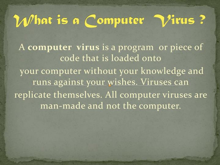 what is a computer virus n.