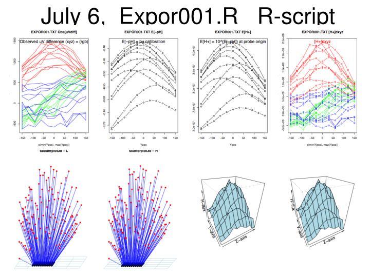 July 6,  Expor001.R   R-script