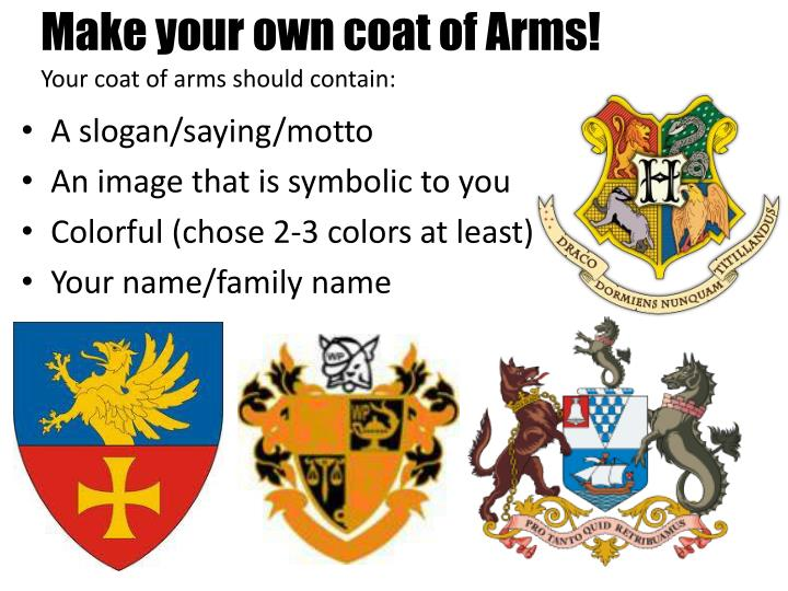 Ppt Family Crest Coat Of Arms Powerpoint Presentation