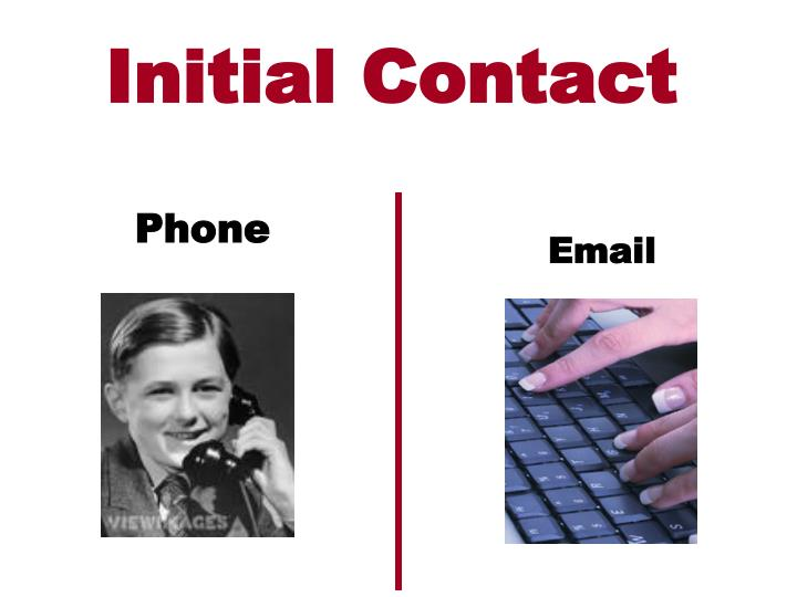 Initial Contact
