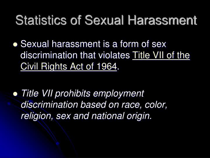 Sexual harassment title vii of the civil rights act of 1964