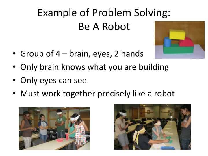 Example of Problem Solving: