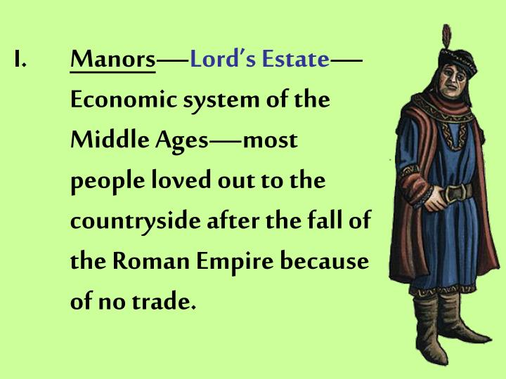 economic system of the middle ages