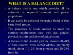 what is a balance diet