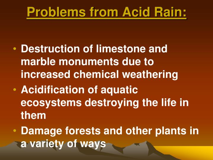 Problems from Acid Rain: