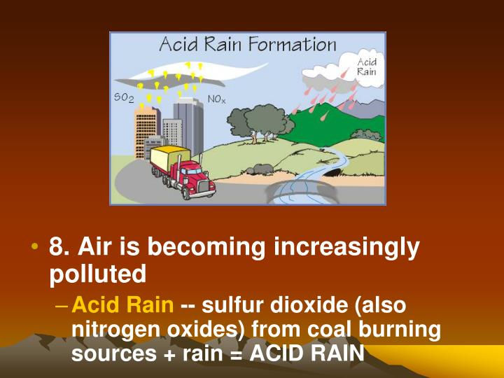 8. Air is becoming increasingly polluted