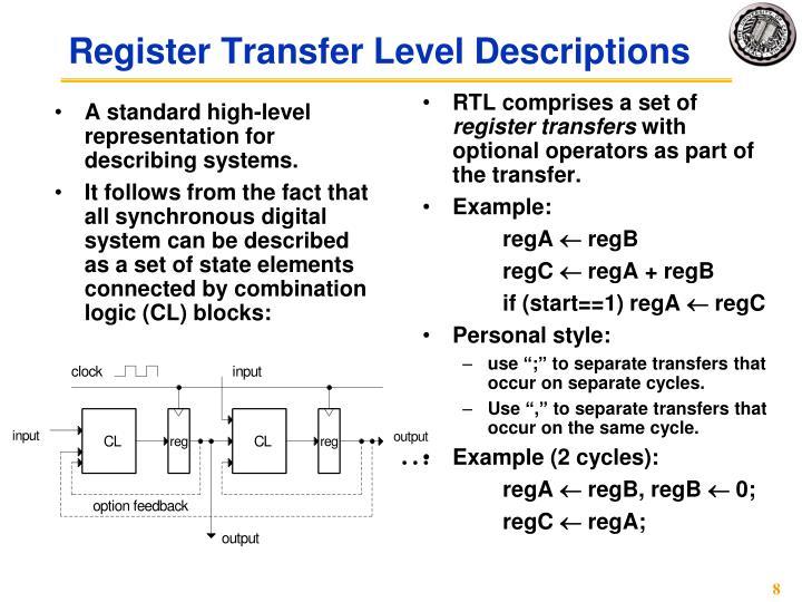 A standard high-level representation for describing systems.