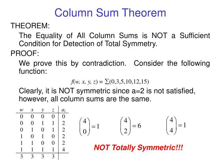 Column Sum Theorem