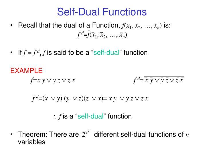Self-Dual Functions