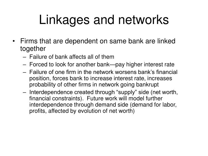Linkages and networks