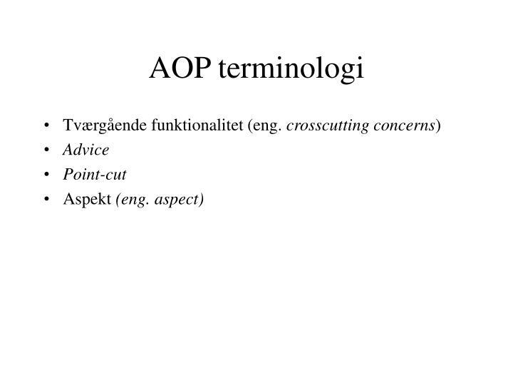Aop terminologi
