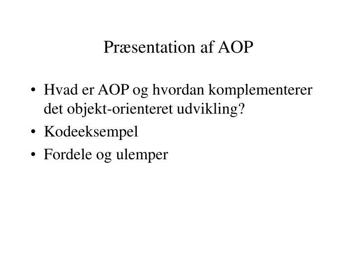 Pr sentation af aop