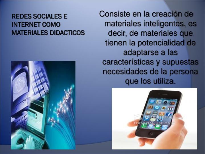 REDES SOCIALES E INTERNET COMO MATERIALES DIDACTICOS