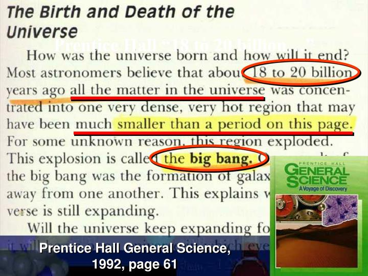 "Prentice Hall ""18 to 20 billion…"""