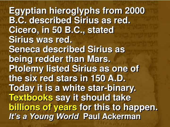 Egyptian hieroglyphs from 2000