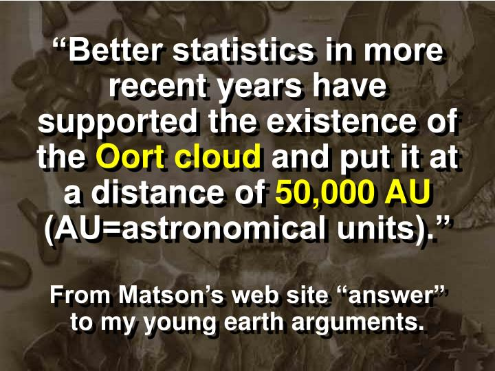 """""""Better statistics in more recent years have supported the existence of the"""