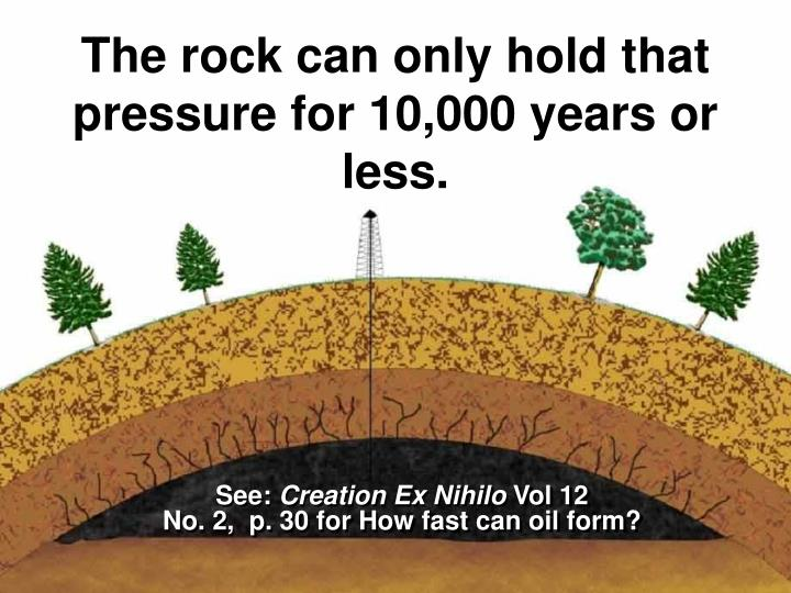 The rock can only hold that pressure for 10,000 years or less.