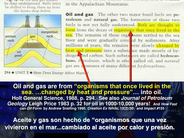 Oil and gas are from