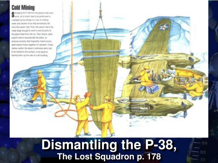 Dismantling the P-38,