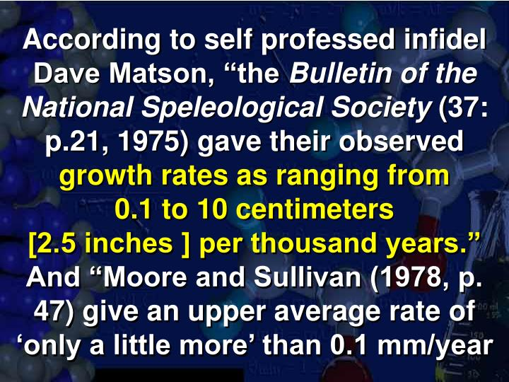 """According to self professed infidel Dave Matson, """"the"""