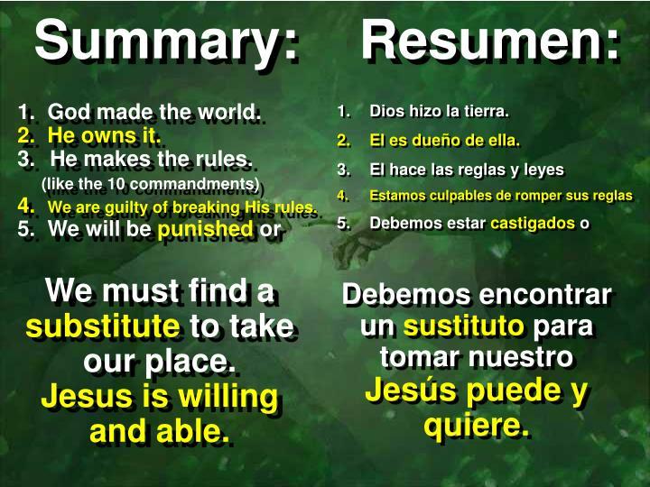 Summary:    Resumen