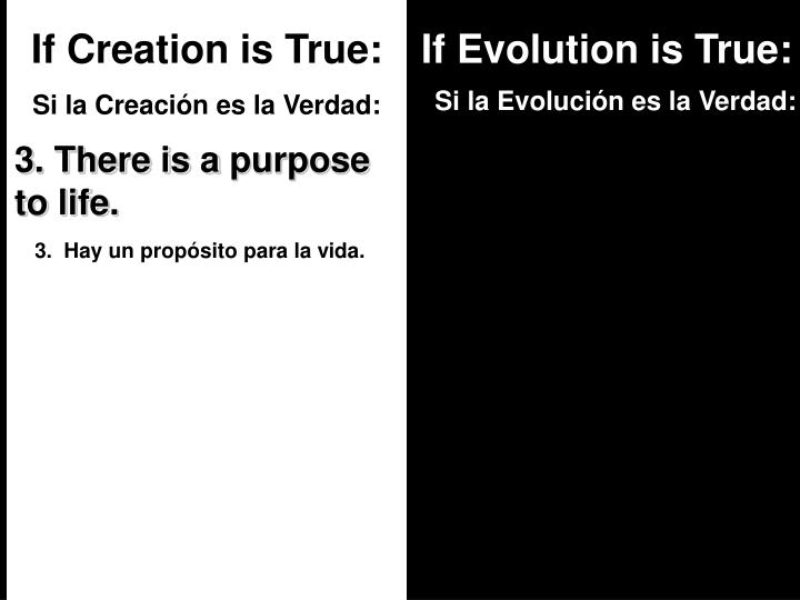 If Creation is True: