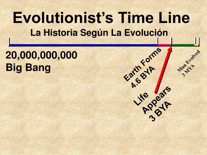 Evolutionist's Time Line