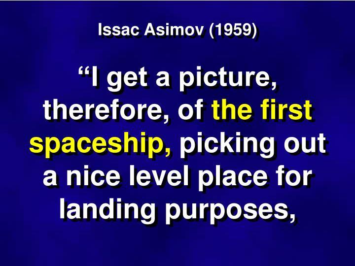 Issac Asimov (1959)