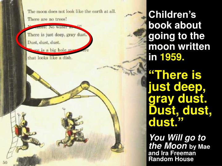 Children's book about going to the moon written in