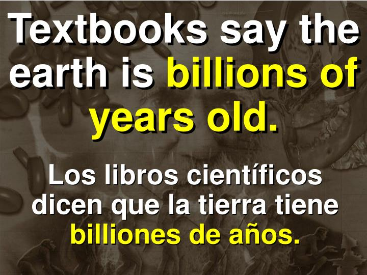 Textbooks say the earth is