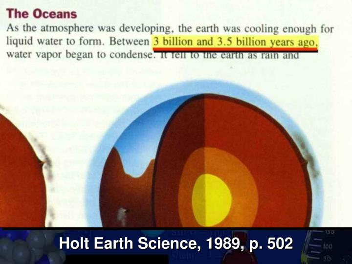 Holt Earth Science, 1989, p. 502